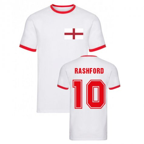 Marcus Rashford England Ringer Tee (White)