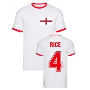 Declan Rice England Ringer Tee (White)