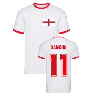 Jaden Sancho England Ringer Tee (White)
