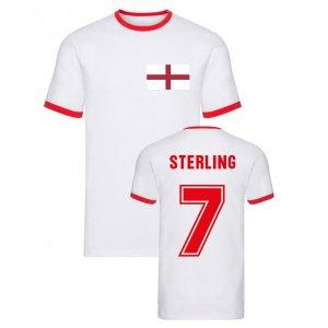 Raheem Sterling England Ringer Tee (White)