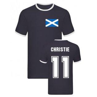 Ryan Christie Scotland Ringer Tee (Navy)