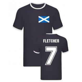 Darren Fletcher Scotland Ringer Tee (Navy)