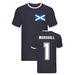 David Marshall Scotland Ringer Tee (Navy)