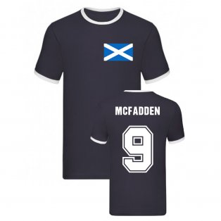 James McFadden Scotland Ringer Tee (Navy)