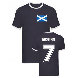 John McGinn Scotland Ringer Tee (Navy)