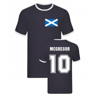 Callum McGregor Scotland Ringer Tee (Navy)
