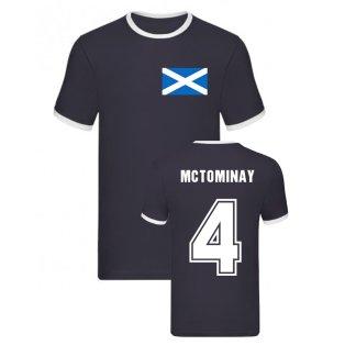 Scott McTominay Scotland Ringer Tee (Navy)