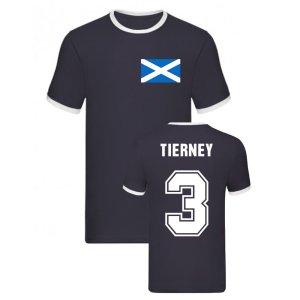 Kieran Tierney Scotland Ringer Tee (Navy)