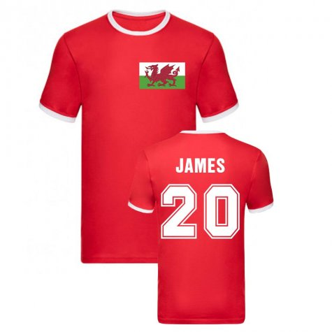 Daniel James Wales Ringer Tee (Red)