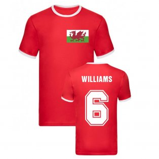 Ashley Williams Wales Ringer Tee (Red)