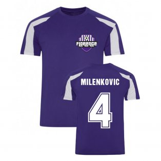 Nikola Milenkovic Fiorentina Sports Training Jersey (Purple)