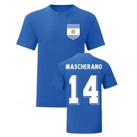 Javier Mascherano Argentina National Hero Tee (Blue)
