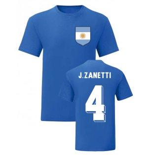 Javier Zanetti Argentina National Hero Tee (Blue)