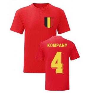 Vincent Kompany Belgium National Hero Tee\'s (Red)