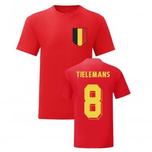 Youri Tielemans Belgium National Hero Tee\'s (Red)