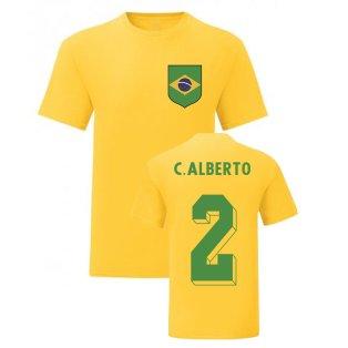 Carlos Alberto Brazil National Hero Tee\'s (Yellow)