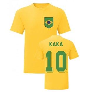 Kaka Brazil National Hero Tee\'s (Yellow)