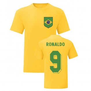 Ronaldo Brazil National Hero Tee\'s (Yellow)