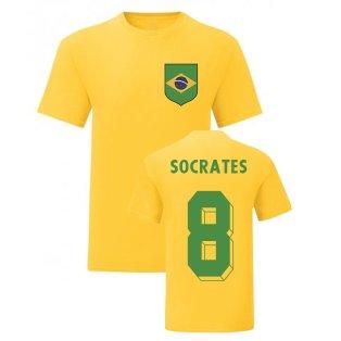 Socrates Brazil National Hero Tee\'s (Yellow)