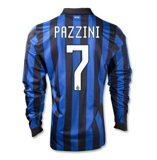 2011-12 Inter Milan Long Sleeve Home (Pazzini 7)