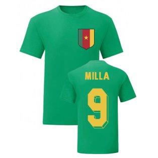 Roger Milla Cameroon National Hero Tee (Green)
