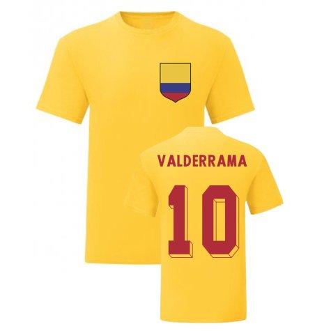 Carlos Valderrama Colombia National Hero Tee\'s (Yellow)