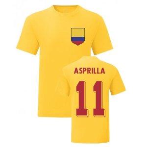 Faustino Asprilla Colombia National Hero Tee\'s (Yellow)