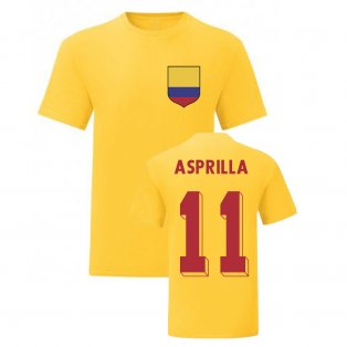 Faustino Asprilla Colombia National Hero Tee\'s (Yellow)