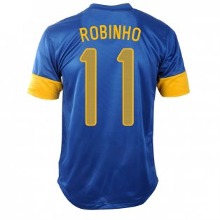 2012-13 Brazil Nike Away Shirt (Robinho 11)