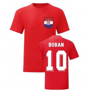 Zvonimir Boban Croatia National Hero Tee\'s (Red)