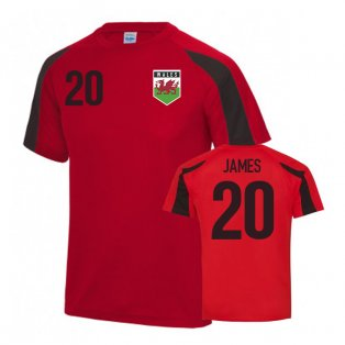 Wales Sports Training Jersey (Daniel James 20)