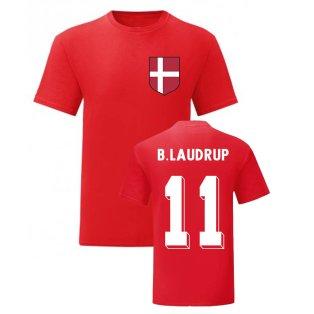 Brian Laudrup Denmark National Hero Tee (Red)