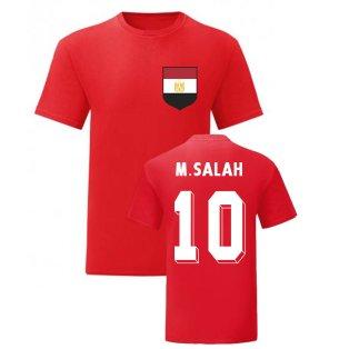 Mo Salah Egypt National Hero Tee (Red)