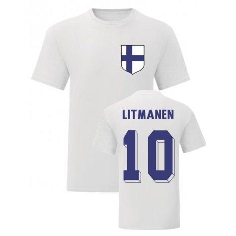 Jari Litmanen Finland National Hero Tee (White)