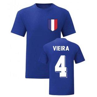 Patrick Vieira France National Hero Tee\'s (Blue)