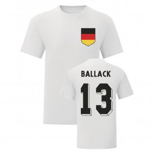 Michael Ballack Germany National Hero Tee\'s (White)