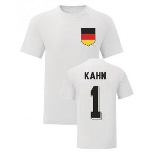 Oliver Kahn Germany National Hero Tee\'s (White)