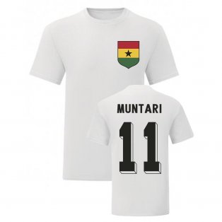 Sulley Muntari Ghana National Hero Tee (White)