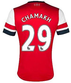 2012-13 Arsenal Nike Home Shirt (Chamakh 29) - Kids
