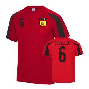 Spain Sports Training Jersey (Ceballos 6)