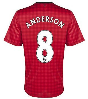 2012-13 Man Utd Nike Home Shirt (Anderson 8)