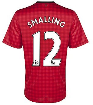 2012-13 Man Utd Nike Home Shirt (Smalling 12)