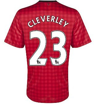 2012-13 Man Utd Nike Home Shirt (Cleverley 23)