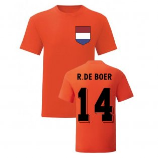 Ronald De Boer Holland National Hero Tee\'s (Orange)