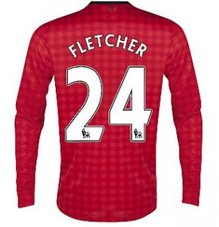 2012-13 Man Utd Nike Long Sleeve Home (Fletcher 24)