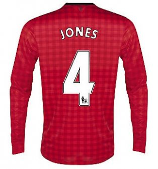 2012-13 Man Utd Nike Long Sleeve Home (Jones 4)