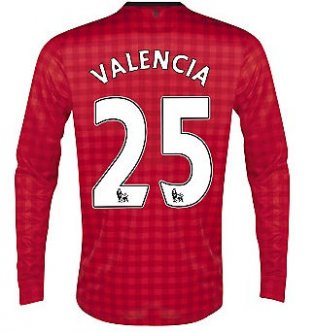 2012-13 Man Utd Nike Long Sleeve Home (Valencia 25)