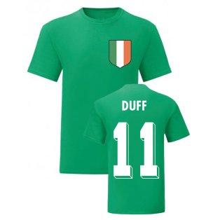 Damien Duff Ireland National Hero Tee (Green)