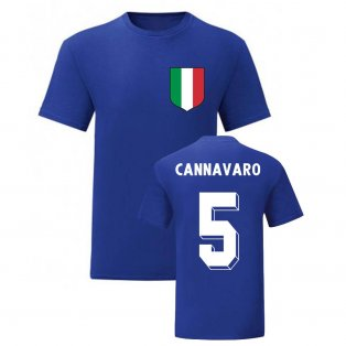 Fabio Cannavaro Italy National Hero Tee\'s (Blue)