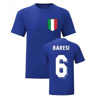 Franco Baresi Italy National Hero Tee\'s (Blue)